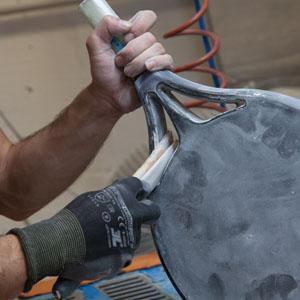 Fabricación artesanal de palas para pádel